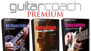Guitar Coach Premium. Online Lesson Libraries.