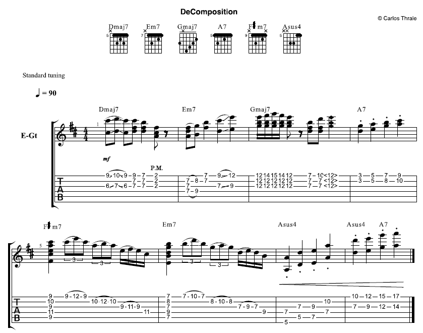 DeComposition Tab and Score