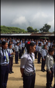 Students of the Himalaya Secondary School, Kolki, Nepal.