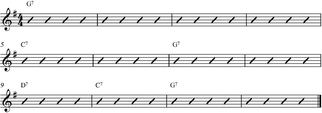 12-Bar Blues in G