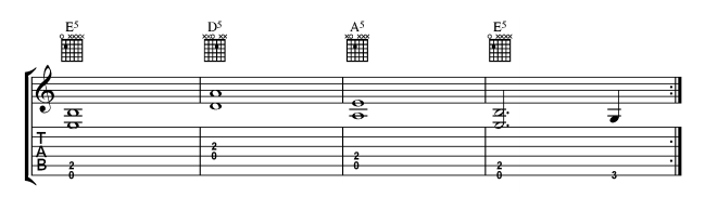 Open Position Power Chords 1