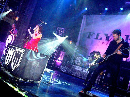 Flyleaf performing live SanFranOCT18
