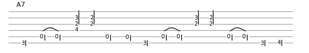 A7 Chord Blues Lick