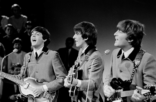 Paul, George and John of The Beatles